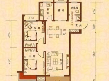 2室2厅1卫 95平米